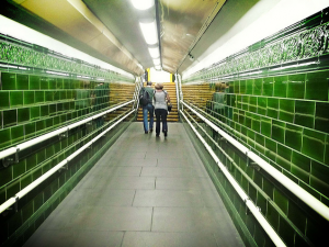 Tiling in London underground