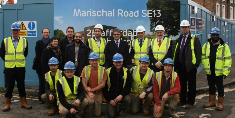Group shot Marischal Road by sign JPEG